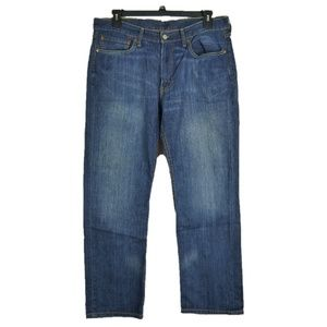 Levis 514 Straight Fit Jeans Dark Faded Wash 36-38